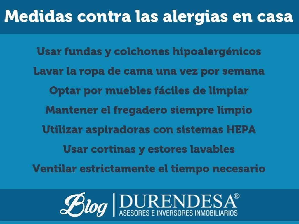 alérgicos en casa- alergias en el hogar- tips Durendesa
