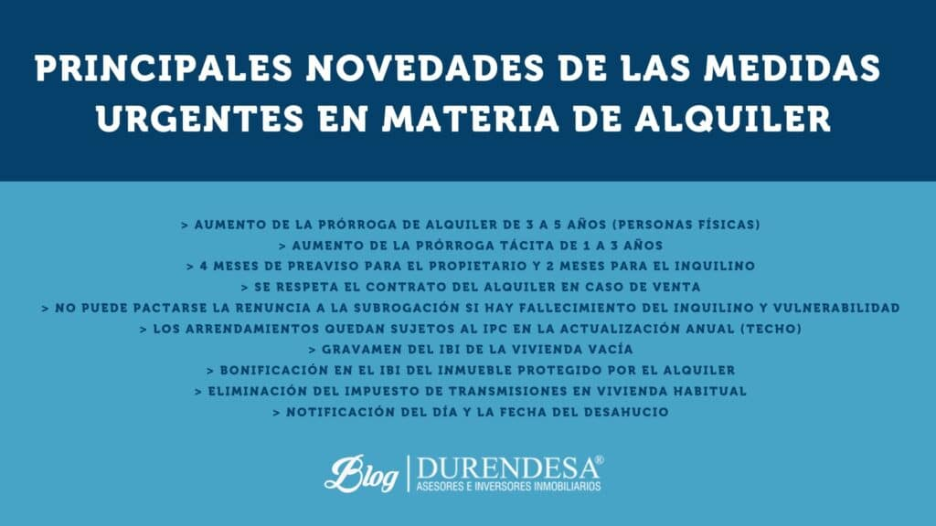 nuevas medidas del alquiler- nuevo decreto- Baleares