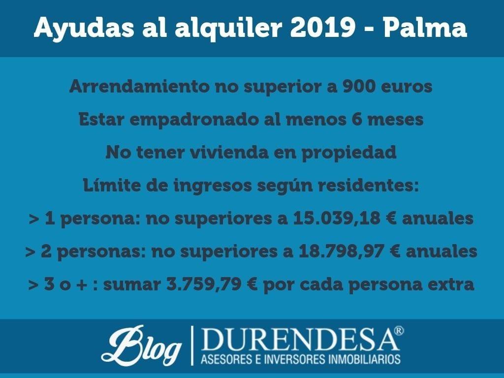 Subvenciones alquiler Palma de Mallorca- ayudas al alquiler